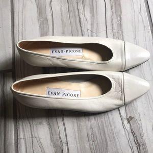 Evan Picone cream colored pumps.